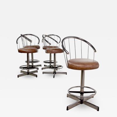 Cosco 5 cosco vintage modern chrome bar or counter stools