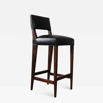 Costantini Design Bruno Stool from Costantini in Argentine Rosewood and Leather