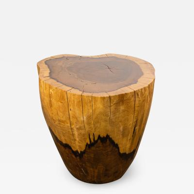 Costantini Design Costantini Hand Carved Live Edge Solid Wood Trunk Cocktail Table 32 In Stock