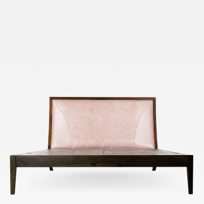 Costantini Design Exotic Wood Contemporary Upholstered Bed from Costantini Belgrano