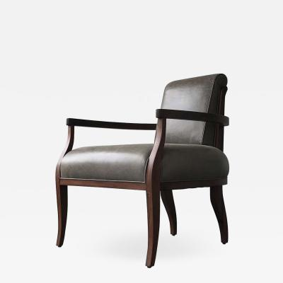 Costantini Design Gianni Contemporary Art Deco Style Leather Lounge Armchair from Costantini