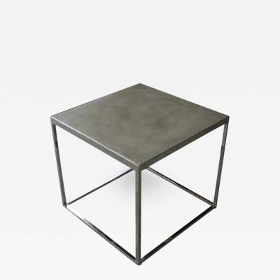 Costantini Design Jesse Polished Steel and Concrete Side Table from Costantini