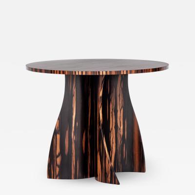 Costantini Design Macassar Ebony Custom Bentwood Round Side Table by Costantini Andino In Stock