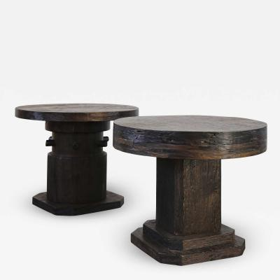 Costantini Design Malbec Side Tables in recovered wood from Costantini