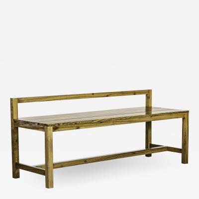 Costantini Design Modern Solid Argentine Rosewood Outdoor Bench from Costantini Serrano