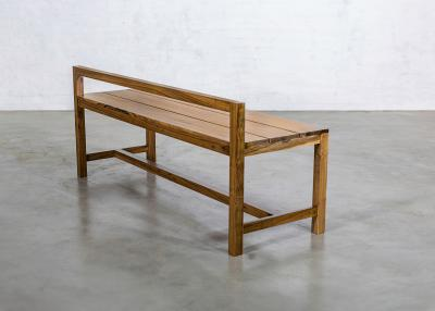 Costantini Design Modern Solid Exotic Wood Outdoor Bench from Costantini Serrano In Stock