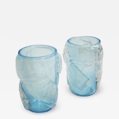 Costantini Design Pair of Mid Century Modern Constantini Murano Glass Italian Vases