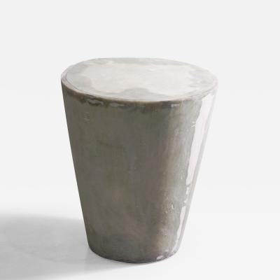 Costantini Design Raw Fiberglass Lacquered Conical Side Table from Costantini Tromonto In Stock