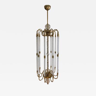 Cosulich Interiors Antiques Contemporary Bespoke Italian Monumental Murano Glass Antique Brass Open Lantern