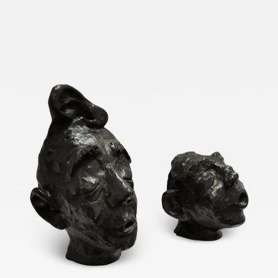 Coutant PAIR OF PERSON HEADS FRANCE