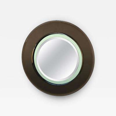 Cristal Art Italian Round Mirror Attributed to Cristal Art