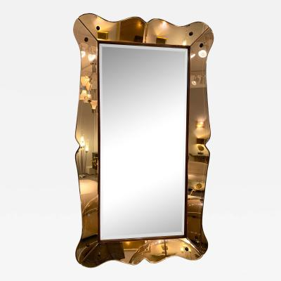 Cristal Art Mirror by Cristal Art Italy 1960s