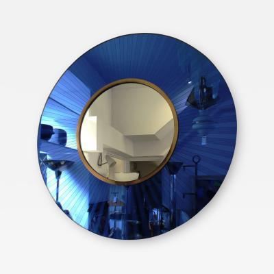 Cristal Arte 1950s Cristal Arte Blue Mirror