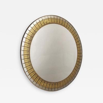 Cristal Arte 1950s Round Mirror by Cristal Arte