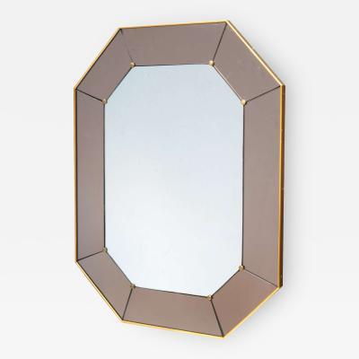 Cristal Arte Cristal Arte Octagonal Modernist Wall Mirror