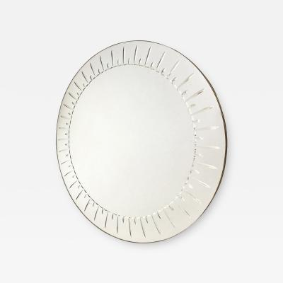 Cristal Arte Large Round Mirror by Cristal Art