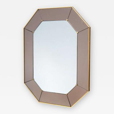 Cristal Arte Modernist Octagonal Wall Mirror by Cristal Arte