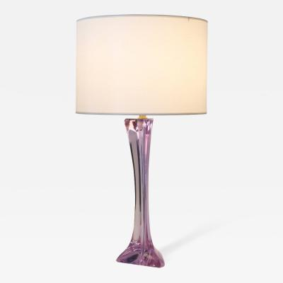Cristalleries De Sevres Lavender Glass Table Lamp by Christalleries de Sevres of France