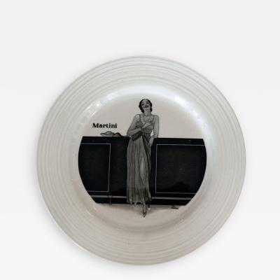 Crown Ducal Set of 6 1930 s Art Deco Cocktail Plates by Crown Ducal England