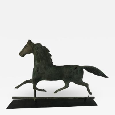 Cushing White American Copper Zinc Horse Weathervane