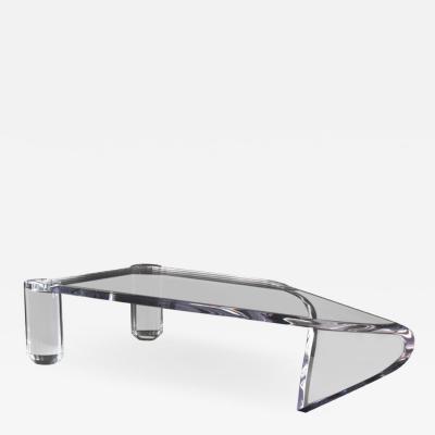 DESIGNLUSH DIAMOND CANTILEVERED ACRYLIC COFFEE TABLE