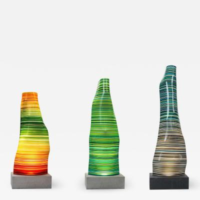 DESIGNLUSH FUSED GLASS FLOOR LAMP