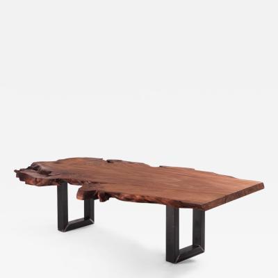 DESIGNLUSH KAURI SLAB WOOD DINING TABLE