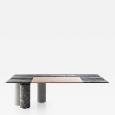DESIGNLUSH MARBLE CYLINDER CANTILEVERED EXECUTIVE DESK