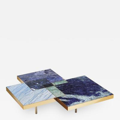 DESIGNLUSH MARBLE INTERSECT SQUARE COFFEE TABLE