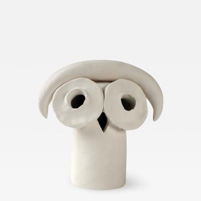 Dainche JOSEPHA White ceramic owl sculpture