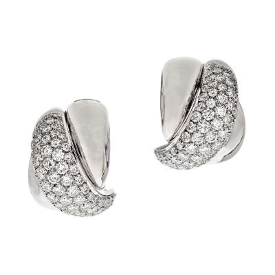 Damiani White Gold and Diamond Earrings