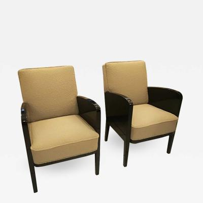 Damon Bertaux Damon and Berteaux Art Deco Pair of Armchairs French circa 1930