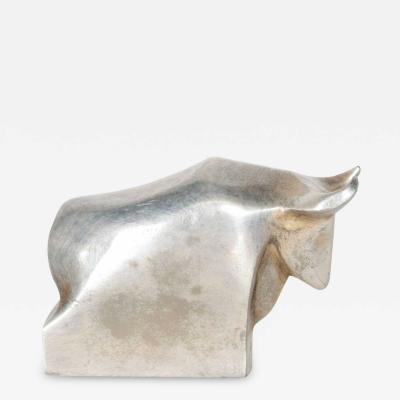 Dansk DANSK Designs BULL Paperweight Silver Mid Century Danish Modern TORO