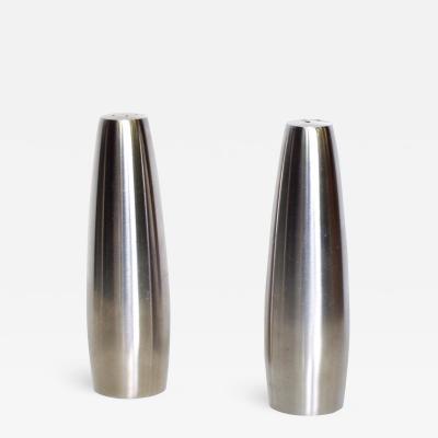 Dansk Danish Modern Stainless Steel Salt Pepper Shakers DANSK DESIGN IHQ DANMARK