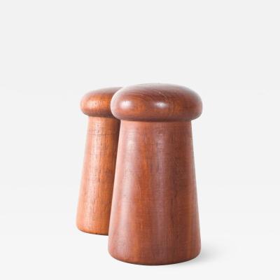 Dansk Dansk Danish Modern Mushroom Teak Salt Pepper Shaker Set 1960s