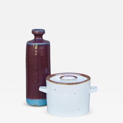 Dansk Decorative Set of Two Modern Glazed Scandinavian Vessels