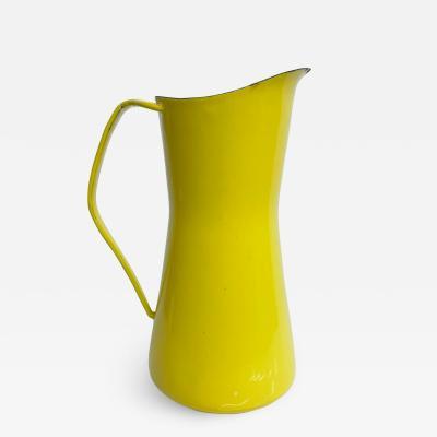 Dansk JENS QUISTGAARD Dansk Sunny Yellow Enamel PITCHER 1960s Denmark