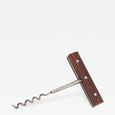 Dansk Japanese Rosewood Wine Bottle Corkscrew Opener 1960s Modern