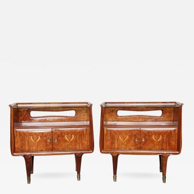 Dassi et Figli Pair of Dassi et Figli Night Tables Made in Milan