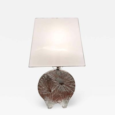 Daum Daum Crystal French 1960 Table Lamp