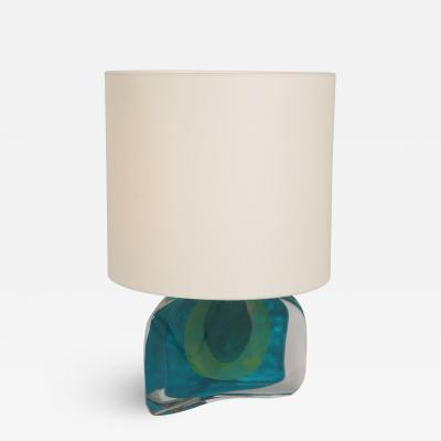 Daum Daum Crystal Glass Table Lamp 70s