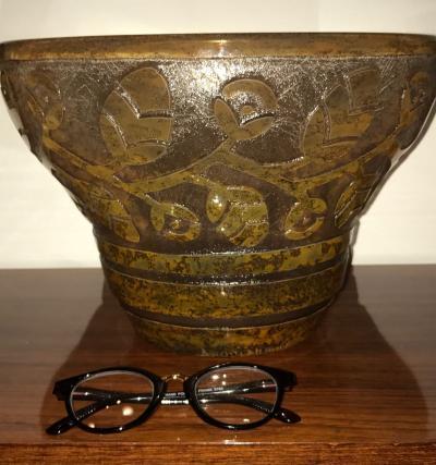 Daum Daum Nancy Art Deco Acid Etched French Museum Glass