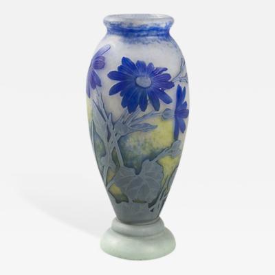 Daum French Art Nouveau Cameo Glass Vase by Daum