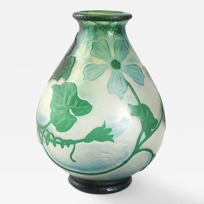 Daum French Art Nouveau Vase Squash Blossom