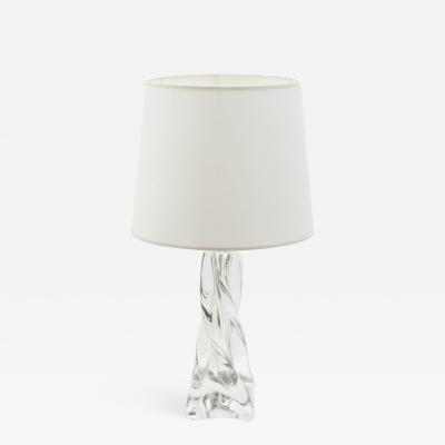 Daum Jean Daum French crystal table lamp 1960s