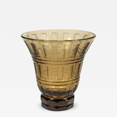 Daum Petite Acid Etched Vase by Daum