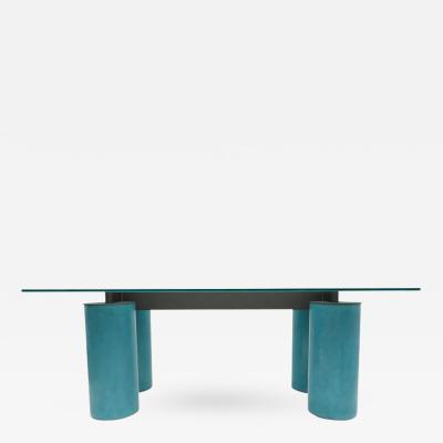 David Law Lella Massimo Vignelli Crystal Serenissimo Table Desk by Acerbis