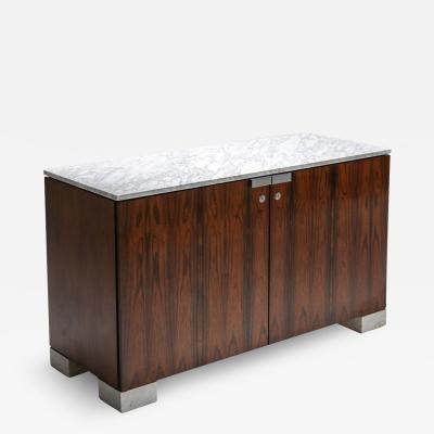 De Coene Carrara Marble and Rosewood Cabinet by De Coene 1960s
