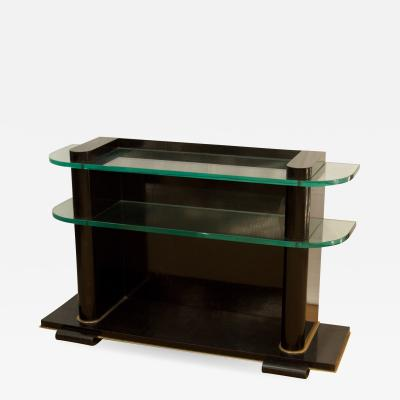 De Coene De Coene Fr res Art Deco Ebonized and Glass Console