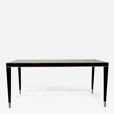 De Coene Maison De Coene Superb Art Deco Coffee Table with Silver End Leg